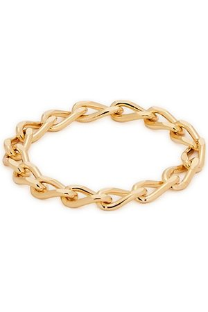 Daisy London X Estée Lalonde 18kt -plated chain ring