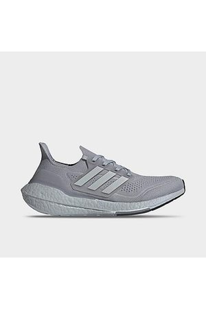 adidas Men Running - Men's UltraBOOST 21 Running Shoes in Grey/Halo Silver Size 7.5 Knit