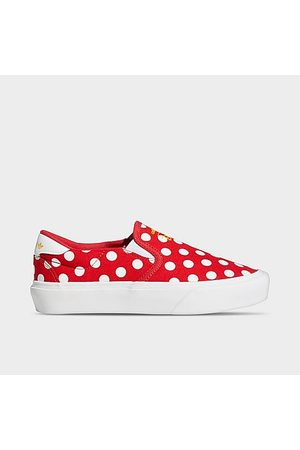 adidas Girls' Big Kids' Original Court Rallye Slip-On Shoes in /Scarlet