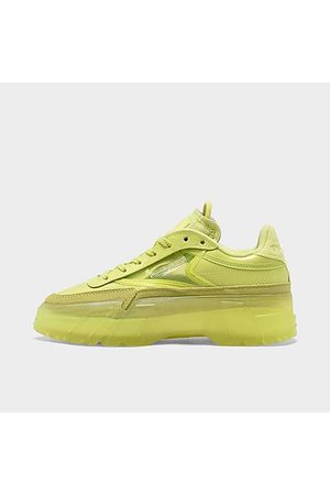 Reebok Women Casual Shoes - Women's Classics Club C Cardi Casual Shoes in /High Vis Size 6.0 Leather