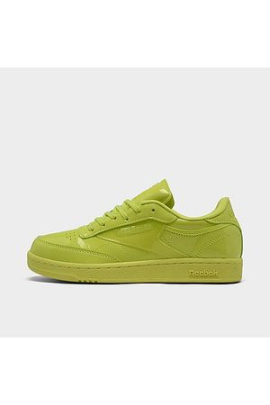 Reebok Girls Casual Shoes - Girls' Big Kids' Classics Cardi Coated Club C Double Casual Shoes in /High Vis Size 5.0 Leather