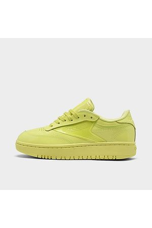 Reebok Women Casual Shoes - Women's Classics Cardi Coated Club C Double Casual Shoes in /High Vis Size 5.5 Leather