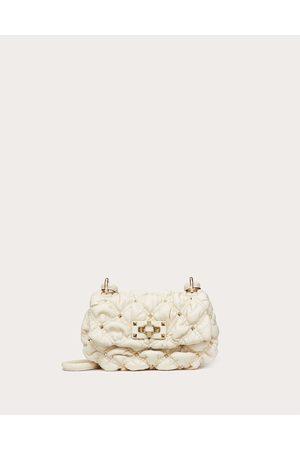 VALENTINO GARAVANI Small Spikeme Nappa Shoulder Bag Women Light Ivory 100% Lambskin OneSize