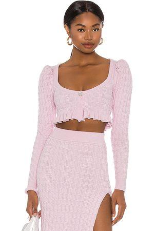 LPA Women Sweaters - Soren Cropped Sweater in Lavender.