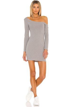Lovers + Friends Charlotte Mini Dress in Grey.