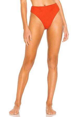 Tularosa Sylvie High Waist Bottom in Red.