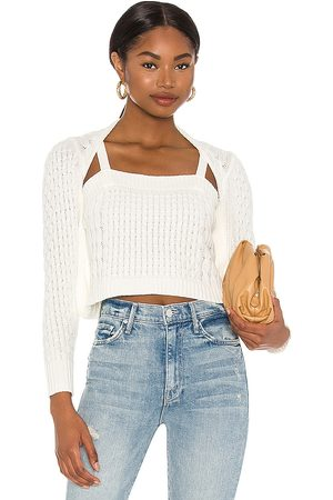 Central Park West X REVOLVE Cable Knit Sweater in Neutral.
