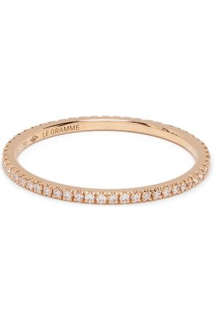 Le Gramme 18kt gold 1g diamond pavé ring