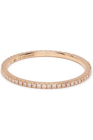 Le Gramme Rings - 18kt gold 1g diamond pavé ring