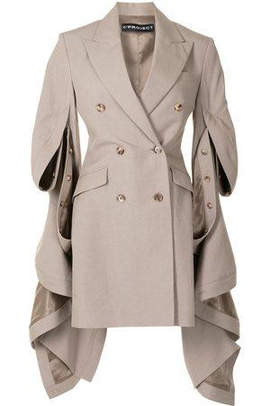 Y / PROJECT Draped sides blazer dress