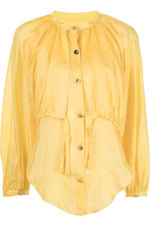 EUDON CHOI Tie-fastening long-sleeve blouse