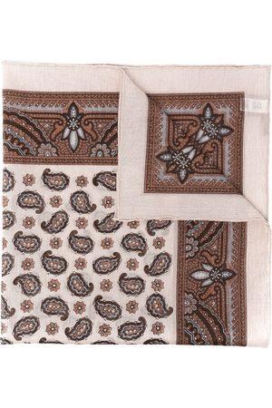 Eleventy Men Scarves - Paisley-print cotton scarf - Neutrals
