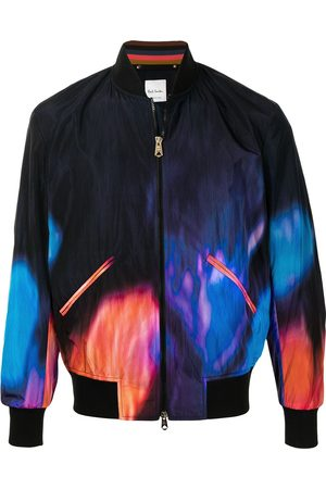Paul Smith Abstract fire print bomber jacket - Multicolour