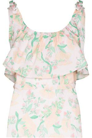 Helmstedt Women Camisoles - Ruffled floral camisole pyjama top