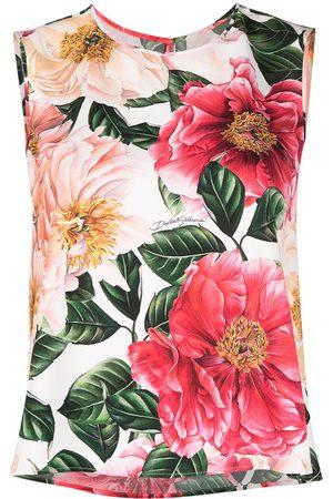 Dolce & Gabbana Women Tank Tops - Floral-print sleeveless top