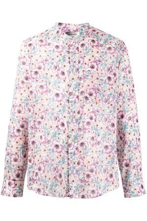 Isabel Marant Men Shirts - Floral-print shirt - Neutrals