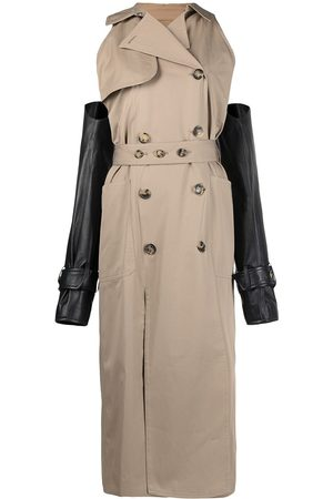 Rokh Women Trench Coats - Detachable-sleeve trench coat - Neutrals