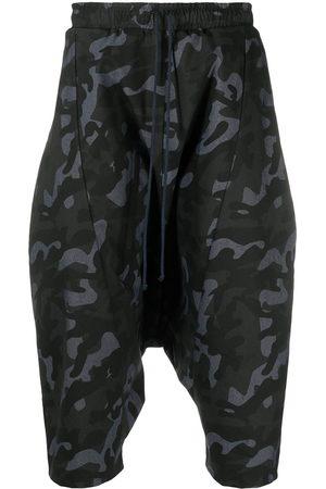 Alchemy Men Shorts - Camouflage drop-crotch shorts