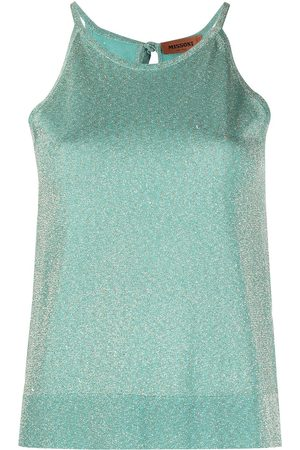 Missoni Glitter-knit vest top