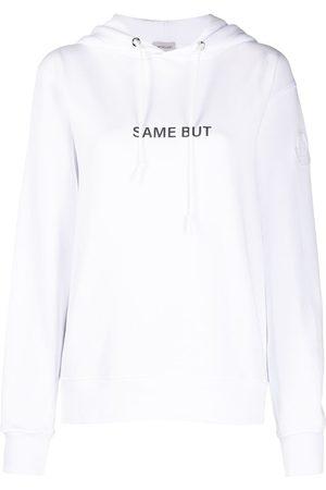 Moncler Women Hoodies - Slogan-print hoodie