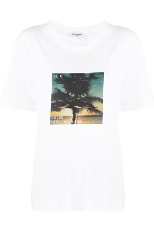 Saint Laurent Palm tree-print T-shirt