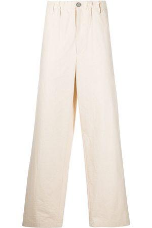 Jil Sander Men Straight Leg Pants - Straight-leg cotton trousers - Neutrals