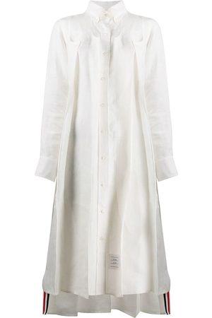 Thom Browne Women Dresses - Tonal 4-Bar inverted pleat dress