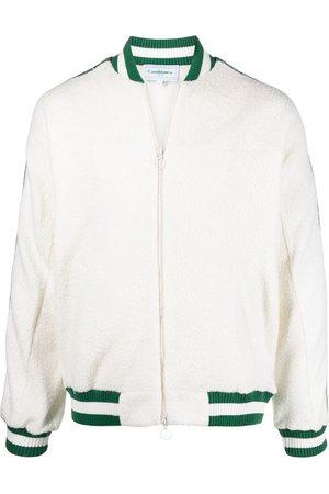 Casablanca Bomber Jackets - Side stripe-detail knitted jacket