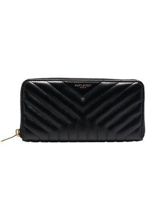 Saint Laurent Women Wallets - Zip-around leather wallet