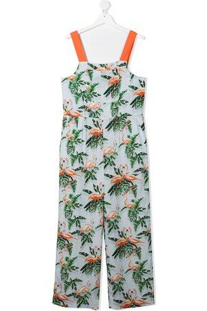 Stella McCartney Jumpsuits - Graphic-print sleeveless jumpsuit