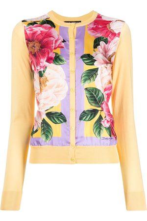 Dolce & Gabbana Floral-print panelled silk cardigan