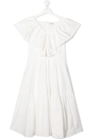 MONNALISA TEEN ruffled tiered cotton dress