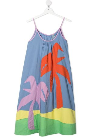 Stella McCartney Girls Casual Dresses - TEEN palm tree patches dress