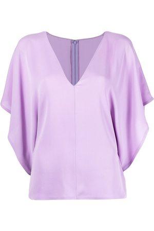 VALENTINO Women Blouses - Georgette V-neck blouse