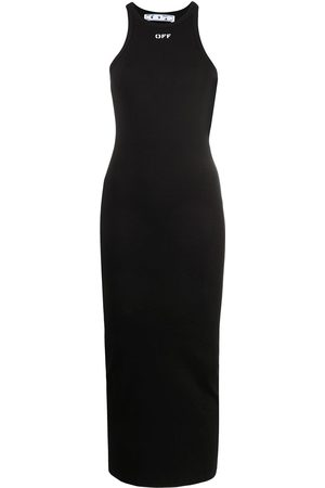 OFF-WHITE Fitted midi dress