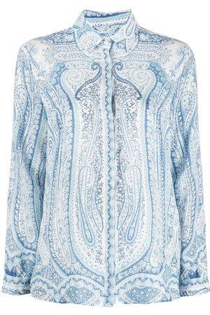 Etro Women Blouses - Paisley-print long-sleeve blouse