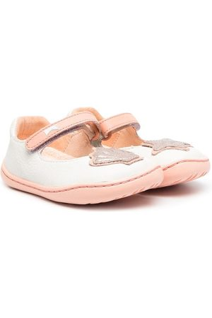 Camper Girls Ballerinas - Sea Shell patch ballerina shoes