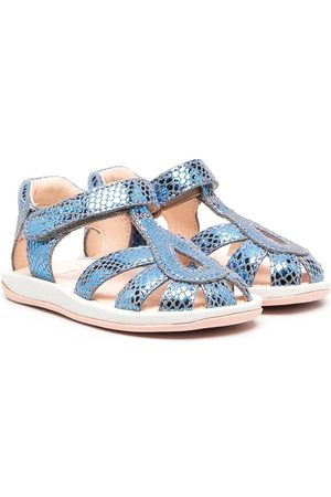 Camper Snakeskin-effect touch-strap sandals