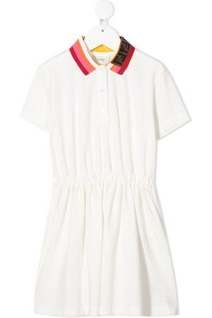 Fendi Striped collar dress
