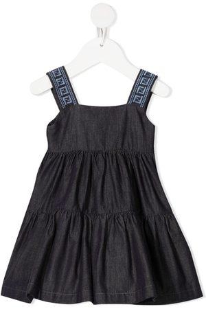 Fendi Pleated denim dress