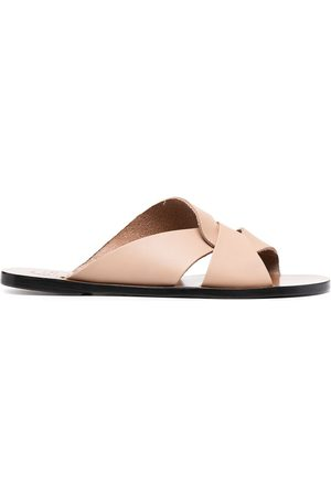 ATP Atelier Women Sandals - Twist-detail sandals - Neutrals