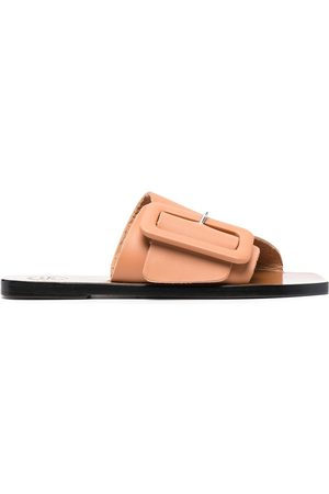 ATP Atelier Side buckle sandals - Neutrals