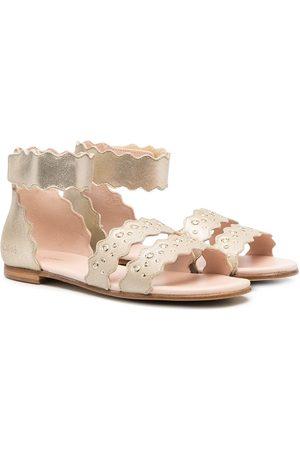 Chloé Metallic leather sandals