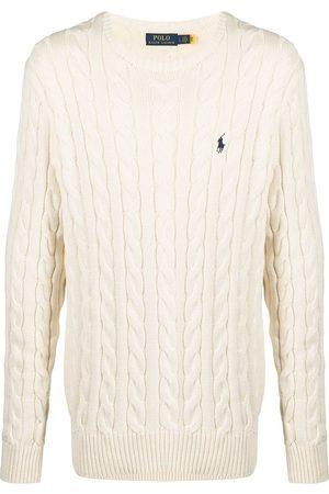 Polo Ralph Lauren Men Sweatshirts - Cable-knit cotton jumper - Neutrals