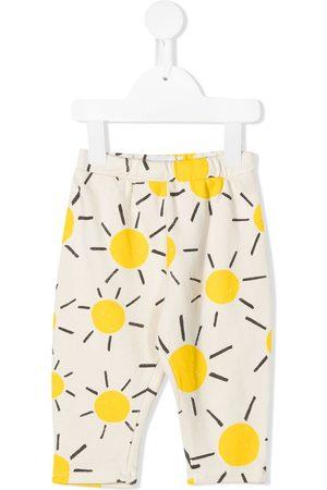 Bobo Choses Baby Leggings - Sun-print organic-cotton leggings - Neutrals