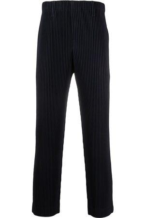 HOMME PLISSÉ ISSEY MIYAKE Plissé slip-on cropped trousers