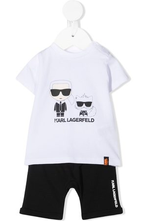 Karl Lagerfeld Karl & Choupette-print tracksuit set