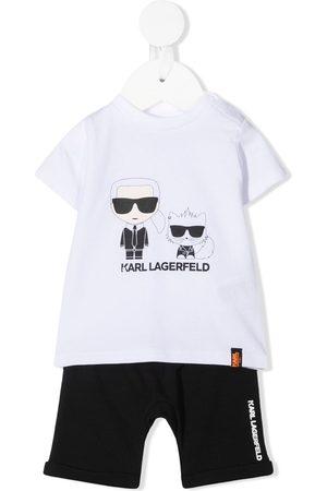 Karl Lagerfeld Sets - Karl & Choupette-print tracksuit set
