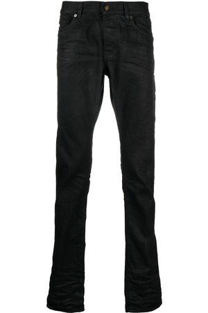 Saint Laurent Men High Waisted - High-waist straight-leg jeans