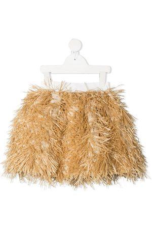 Mimisol Textured flared skirt - Neutrals